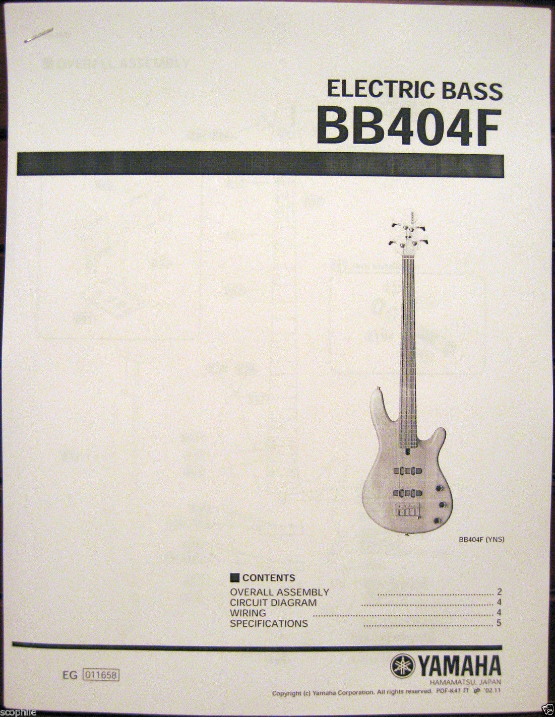 Yamaha BB404F Fretless Bass Guitar Service and 44 similar items