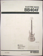 Yamaha BB404F Fretless Bass Guitar Service Manual and Parts List Booklet - $6.92