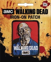 The Walking Dead A Walker Figure Art Image Embroidered Patch NEW UNUSED - $7.84