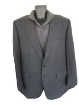 Belvest Grey/blue checkSuit Made In Italy Model Cloth of distinction. Si... - $48.00