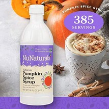 NuNaturals NuStevia Sugar-Free Pumpkin Spice Syrup Natural Stevia Sweetener with