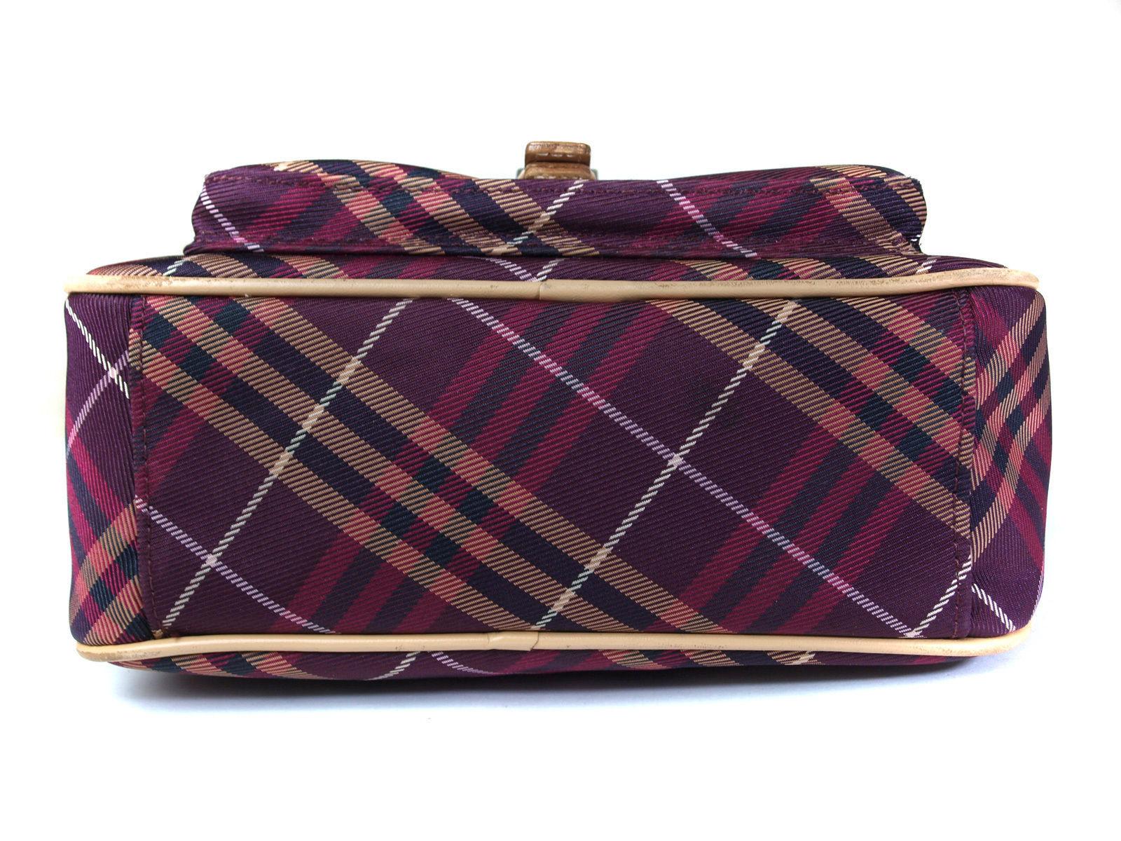 23234ce01729 ... Auth BURBERRY LONDON BLUE LABEL Canvas Leather Cross-Body Shoulder Bag  ...