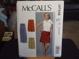 McCall's MP248 Misses Snap Front Skirt Pattern - Size 6/8/10/12/14 - $6.23