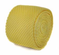 lemon yellow plain knitted tie Frederick Thomas FT1846
