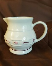 Longaberger Pottery Classic RED WOVEN TRADITIONS Small Juice Pitcher - $19.95
