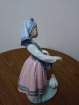 Rare Vintage Girl with Goose L.Ladro Daisa 1983 Retired Statue Figurine image 4