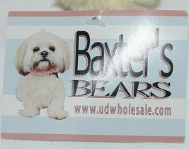 Baxters Bears Brand Light Brown Teddy With Maroon White Gingham Bow image 6