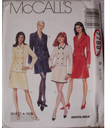 McCall's Pattern 7789 SZ 8 10 12 Princess Double Breasted Jacket Skirt S... - $10.00
