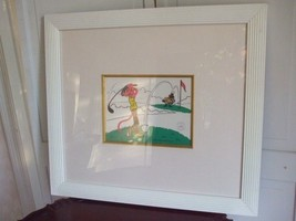 Pink Panther Golfing Framed Picture 1992 Golf Animation Limited Edition ... - $128.65