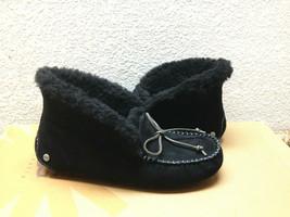Ugg Alena Black Shearling Lined Mocc ASIN Slippers Us 6 / Eu 37 / Uk 4 - $98.18