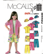McCalls Pattern M4493 Toddlers Shirt Pants Shorts, Hat in Two Sizes 1-4 ... - $3.47
