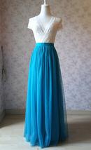 Blue Bridesmaid Tutu Skirt 2 Piece Outfit High Waisted A-Line Bridesmaid Skirt image 1