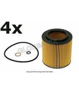 BMW X1 X3 X5 X6 Z4 etc. (2006+) Oil Filter Kit (Set of 4) BOSCH + Warranty - $58.85
