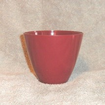 """Allied Chemical Maroon Burgundy Wine Colored Cup 3"""" Tall Hard Plastic - $4.87"""
