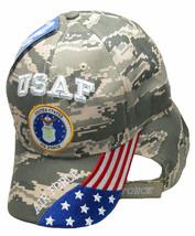 USAF United States Air Force Hat USA Flag Digital ACU Camo Embroidered Cap - $21.77