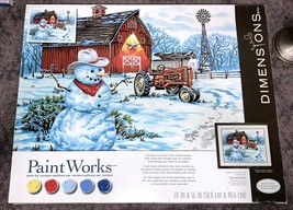 PaintWorks Paint by Number Kit Country Snowman 73-91434 Complete Art Set... - $24.74