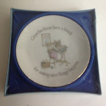 """Vintage New Grandmother 4"""" Gold Trimmed Collector Plate LASTING TREASURE... - $14.26"""