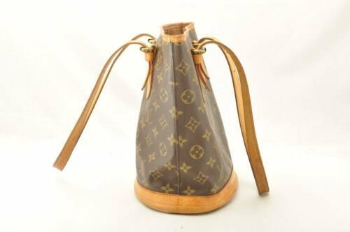 LOUIS VUITTON Monogram Bucket PM Shoulder Bag M42238 LV Auth 11122 **Sticky image 5