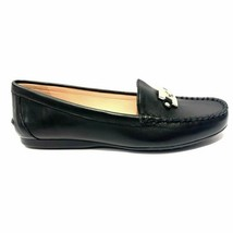 Kate Spade Carmen Leather Loafers Flats Shoes Moccasins Black Size 7 37.5 New - $61.00