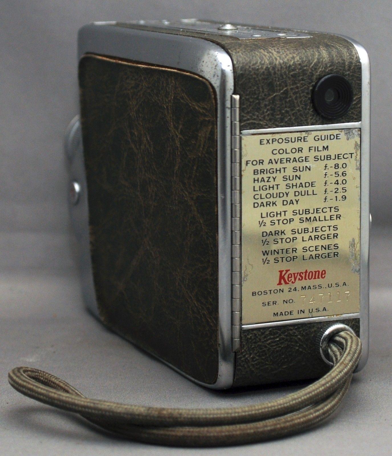 KEYSTONE K-48 BEL AIR Magazine K42 8mm Movie Camera ELGEET f/2.3 12.5mm USA