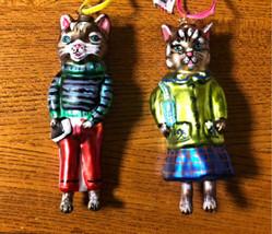 Nathalie Lete Cat Boy Girl Ornament Object Glossiness Glass Interior Art... - $171.00