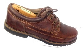 Dockers Men's Brown Leather Lace Up Work Shoes Moc Toe Casual Derby 10M 43 - $16.26