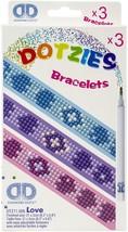 "Diamond Dotz DOTZIES Bracelets Facet Art Kit 1""X9""-Assorted Love 3/Pkg - $11.56"