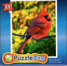 Red Cardinal - 100 Pieces Jigsaw Puzzle - $10.88