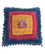 """Silk Kantha Cushion Cover Embroidery Pillow case Home Decor 16"""" ID15819 - $8.55"""