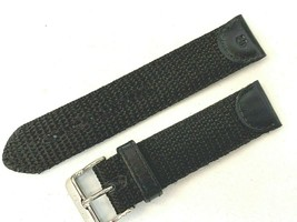BLACK 20MM WATCH BAND SWISS BANDA FOR SWISS ARMY AND OPTHER SPORTS - $16.47 CAD