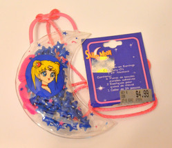 Sailor Moon vintage beauty set crescent moon necklace hair ties sticker ... - $24.74