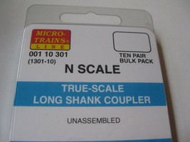 Micro-Trains Stock #00110301 True-Scale Long Shank Coupler (1301-10) N-Scale image 2