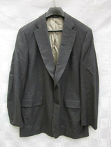 Paul Stuart NY Gray Wool Cashmere Suit Jacket 44 Tall Long Made in Canada - $9.49