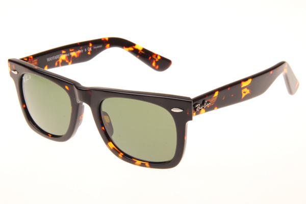 568aaa64daf Ray ban wayfarer rb2140 50 22 polarized sunglasses in tortoise green 902 58  2