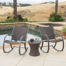 3-Piece Outdoor Aluminum Bistro Dining Set 2 Seats Garden Patio Furnitur... - $514.18
