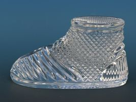 Vintage Waterford Cut Crystal Baby Boot Paperweight image 3