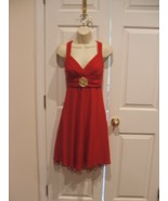 NWT  CITY TRIANGLES RED HOLIDAY PARTY PROM FORMAL DRESS  SIZE jr  med- 7-9 - $51.67