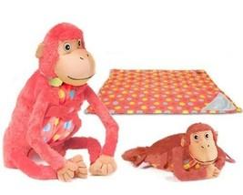 Zoobie Haustiere Baby Mashaka Affe 3-in-1 Plüschtier,Kissen Haustier,Decke - $22.24
