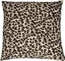 Pillow Decor - Leopard Print Cotton Small Throw Pillow - £11.41 GBP