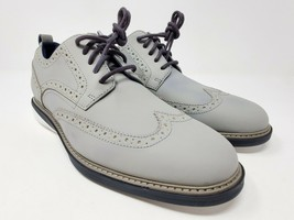 Cole Haan Grey Men's Original Nubuck Grand  Wing-tip Oxford, Size 8.5 - $89.95