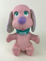 Vintage Rosie Rub-A-Dub Doggie Pink Purple Vinyl Moving Head Dog TYCO 1990 - $24.70