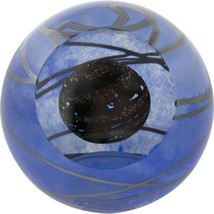 Planet 9 Solar System Glass Eye Studio Celestial Paperweight New 479F Ma... - $119.95