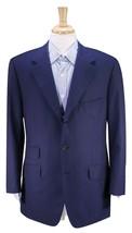 LEUNG Bespoke Tailor New York Solid Navy Blue 3-Btn Handmade Blazer Jack... - $105.00