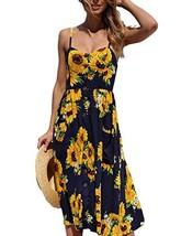 Casual Dresses for Women Dance Boho Long Maxi Flowing New Swing Shift Pe... - $21.66