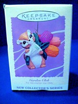 Ornament Hallmark Keepsake 1995 Garden Club Chipmunk Mint In Box #7 - $8.90