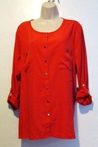 JM Collection New Button Front Blouse Size 16 Originally 49.00 - $18.97
