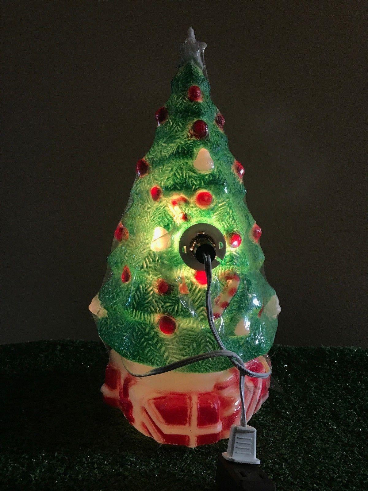 New Vtg 13 Christmas 13 Empire Christmas Tree Lighted Blow