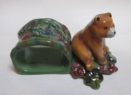 Tracy Porter Beloved Country Collection Brown Bear Figural Napkin Holder - $9.88