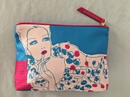 "Blue Pink 6.5X8.5"" ESTEE LAUDER Woman Cosmetic Bag Wallet Purse w 1 Pocket - $8.51"