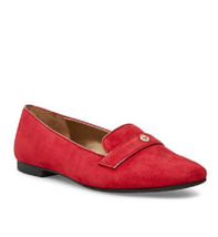 NEW ANNE KLEIN RED LEATHER SUEDE COMFORT MOCCASINS SIZE 8 M $89 - $34.99